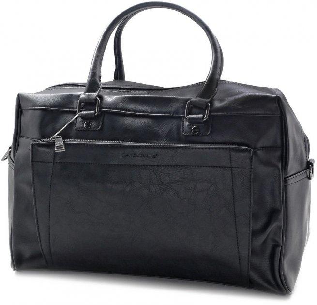 Чоловіча дорожня сумка David Jones 7772187 чорна - зображення 1