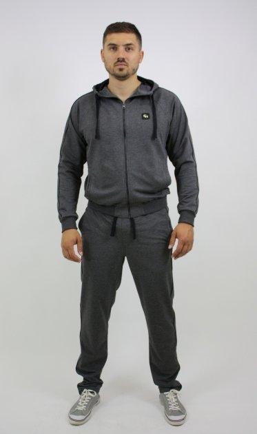 Спортивний костюм Free Agent new канти ІК брюки прямі 4XL Сірий - зображення 1