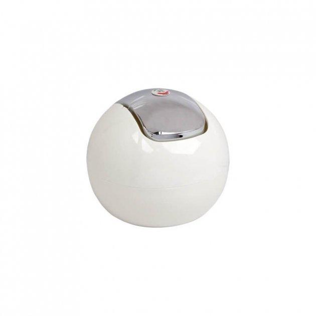 Косметичний відро Trento Top з натискною кришкою 1л біле - зображення 1