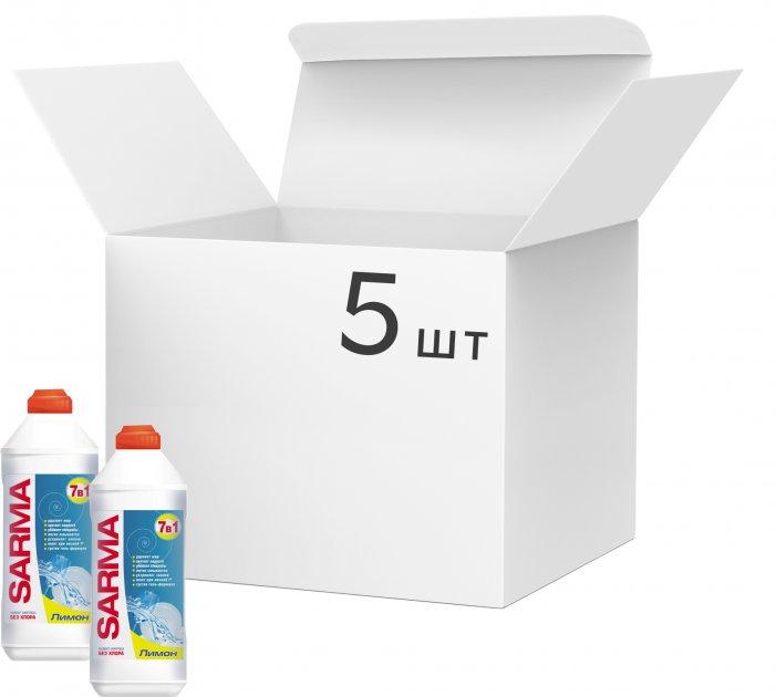 Упаковка геля для мытья посуды Sarma Лимон 500 мл х 5 шт (ROZ6400050030) - изображение 1