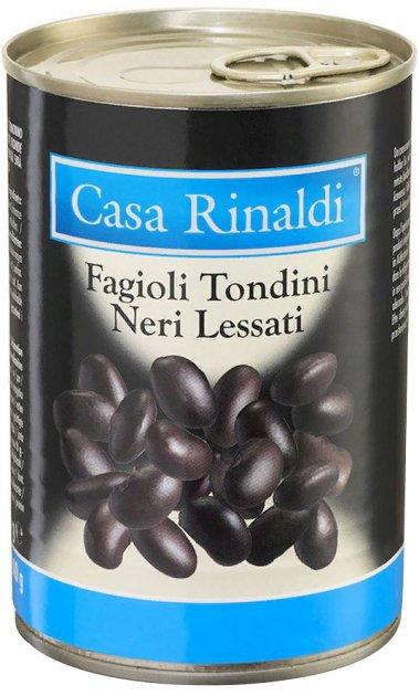 Фасоль черная Casa Rinaldi Тондини 400 г (8006165413701) - изображение 1