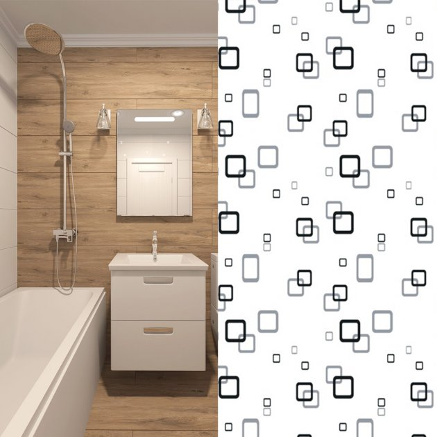 Шторка для ванной Мій Дім Reflection 180 х 200 cм (NJ01553)
