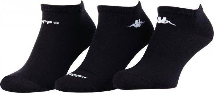 Набор носков Kappa 93243041-1 39-42 3 пары Чёрный (3349600164802) - изображение 1
