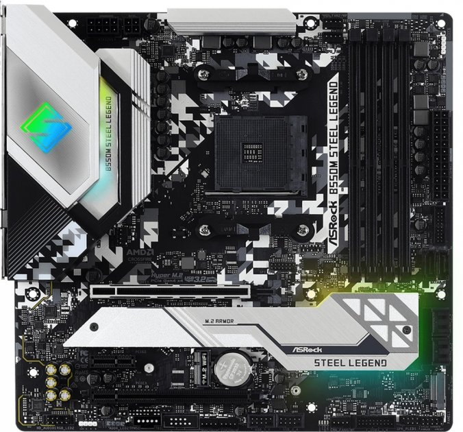 Материнська плата ASRock B550M Steel Legend (sAM4, AMD B550, PCI-Ex16) - зображення 1