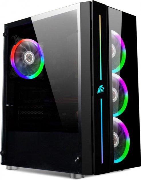 Корпус 1STPLAYER B7-A-R1 Color LED Black без БП - изображение 1