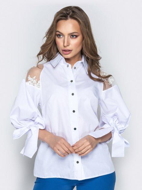 Блузка Dressa 20750 48 Біла (2000005194498) - зображення 1