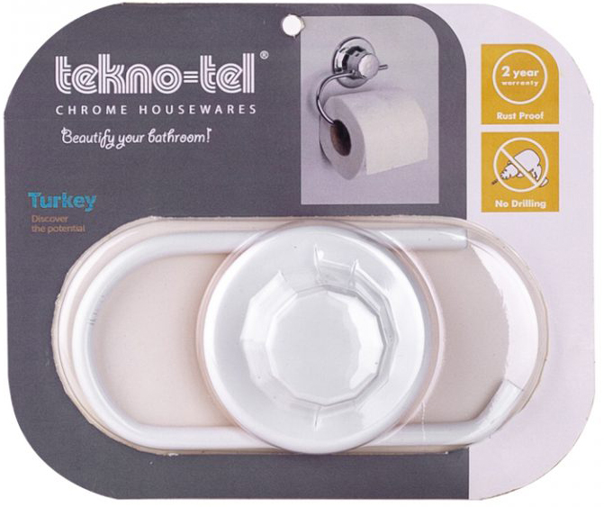 Тримач для туалетного паперу TEKNO-TEL DM239W Eco білий - зображення 1