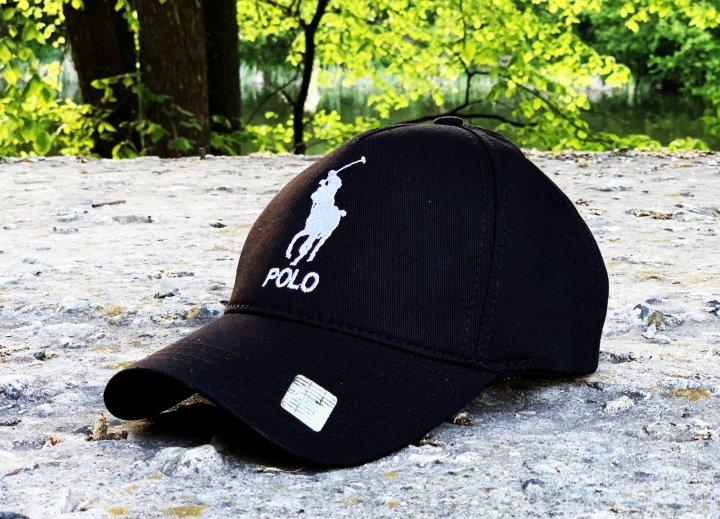 Кепка мужская Polo Ralph Lauren черная (X09) - изображение 1
