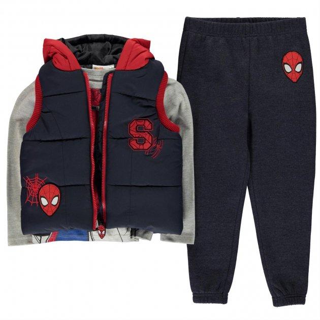 Спортивный костюм тройка Character Gilet Set Infant Boys 140 см Человек-Паук (31702890195) - изображение 1
