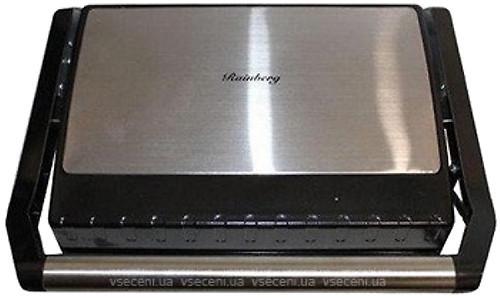 Гриль прижимний Rainberg RB-5403 c терморегулятором зі з'ємним піддоном 2500W Сріблястий (11271) - зображення 1