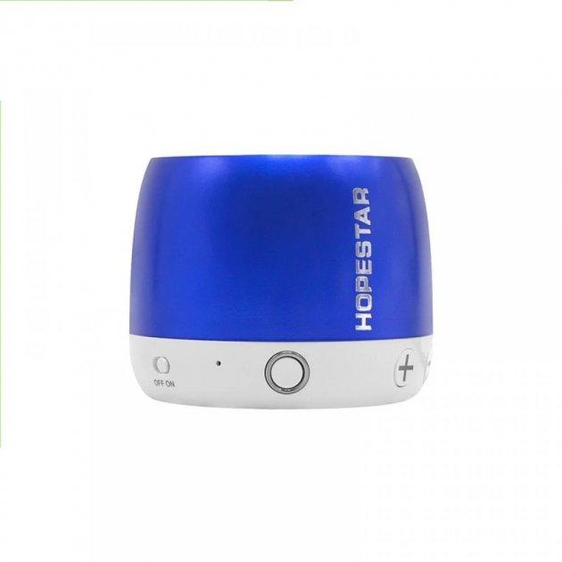 Беспроводная колонка Hopestar H17 аккумуляторная + Bluetooth 4.0, встроенное радио и поддержка MP3, WMA Синяя (11328) - изображение 1