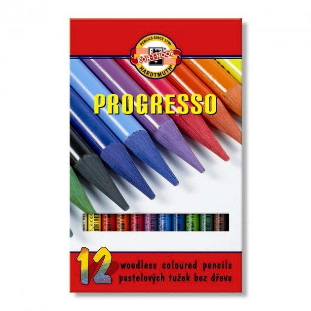 Карандаши бездревесные цветные Koh-i-noor Progresso 12цв (875601) - изображение 1