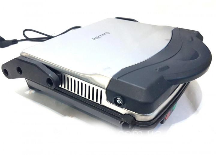 Гриль електричний контактний притискної Rainberg RB-5406 з антипригарним покриттям 1500W Black/Silver - зображення 1