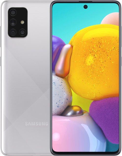 Мобильный телефон Samsung Galaxy A71 6/128GB Metallic Silver (SM-A715FMSUSEK)