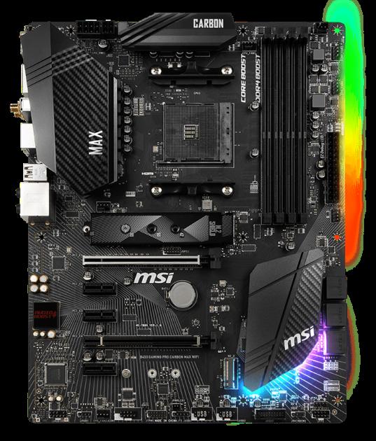 Материнская плата MSI B450 Gaming Pro Carbon Max WiFi (sAM4, AMD B450, PCI-Ex16) - изображение 1