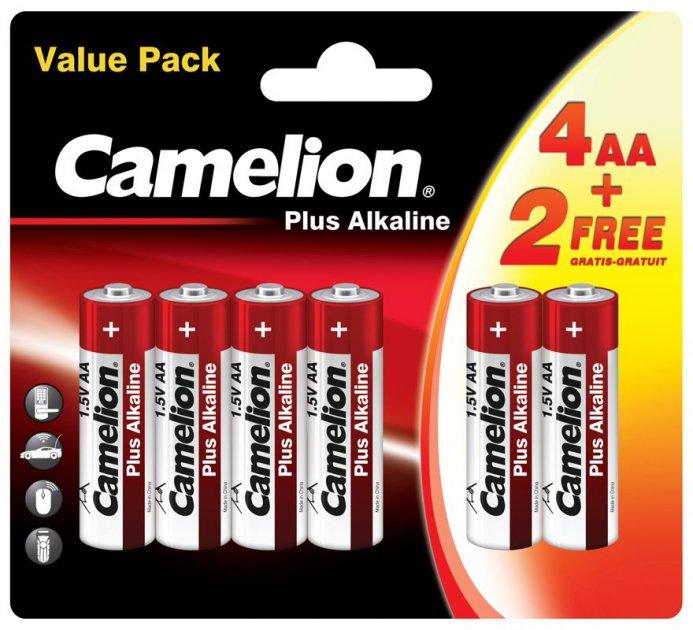 Батарейки Camelion Plus Alkaline 1x(4+2) шт (4+2LR6-BP) - изображение 1