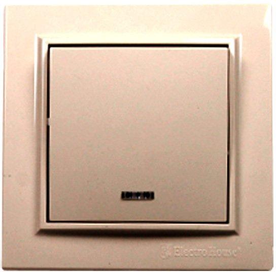 Выключатель с подсветкой Electro House Латте (EH-2183) - изображение 1