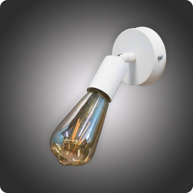 Світильник в стилі лофт Блум на 1 патрон поворотний білий - зображення 1