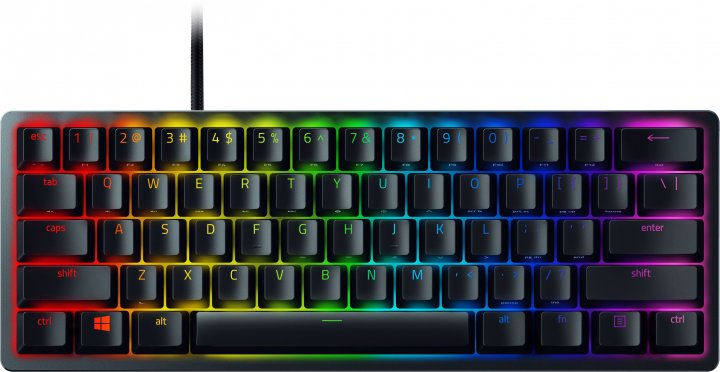 Клавиатура проводная Razer Huntsman mini Purple Switch ENG (RZ03-03390100-R3M1) - изображение 1