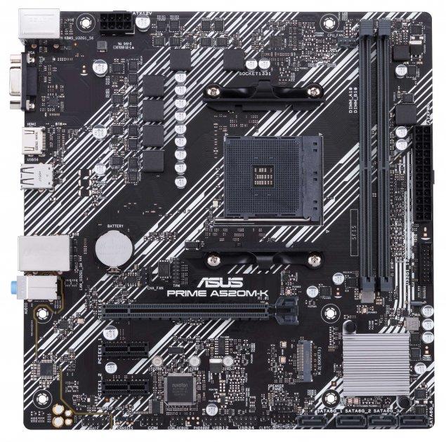 Материнская плата Asus Prime A520M-K (sAM4, AMD A520, PCI-Ex16) - изображение 1