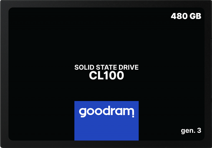 """Goodram SSD CL100 Gen.3 480GB 2.5"""" SATA III 3D NAND TLC (SSDPR-CL100-480-G3) - зображення 1"""