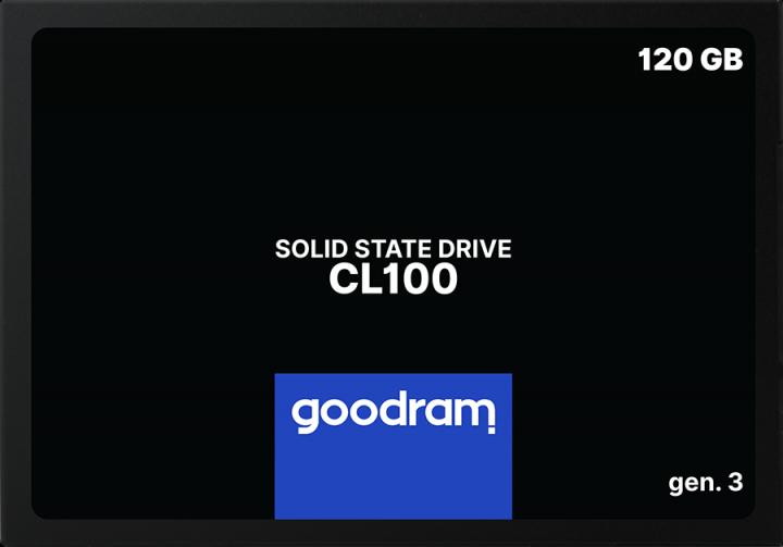 """Goodram SSD CL100 Gen.3 120GB 2.5"""" SATA III 3D NAND TLC (SSDPR-CL100-120-G3) - зображення 1"""