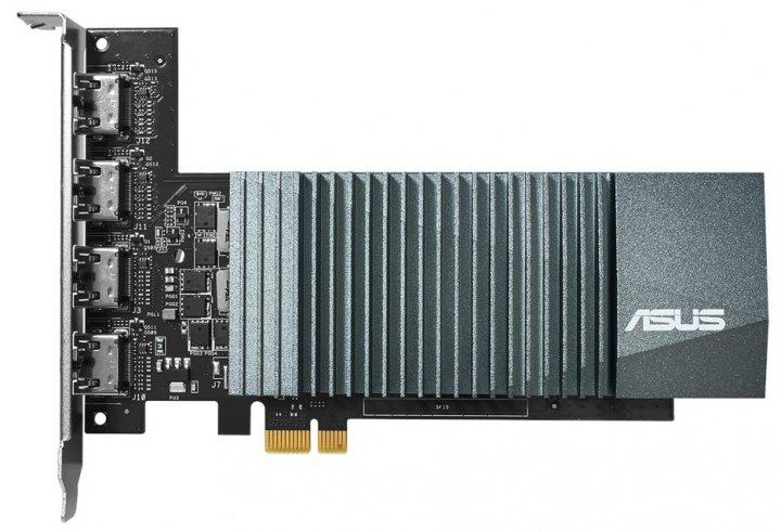 Asus PCI-Ex GeForce GT 710 2GB GDDR5 (64bit) (954/5012) (4 x HDMI) (GT710-4H-SL-2GD5) - изображение 1