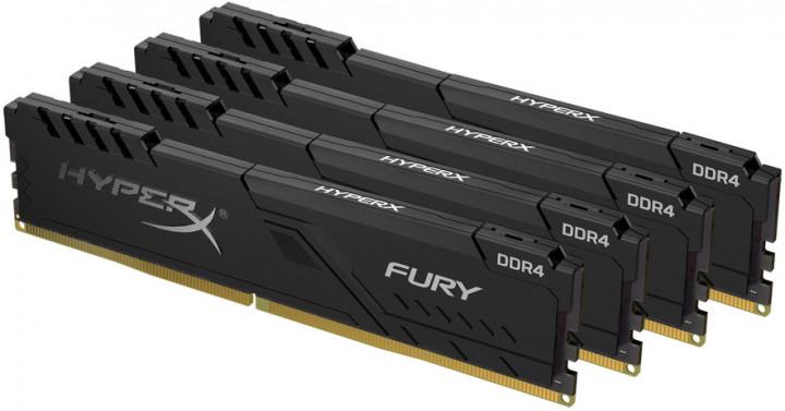 Оперативная память HyperX DDR4-3200 65536MB PC4-25600 (Kit of 4x16384) Fury Black (HX432C16FB4K4/64) - изображение 1