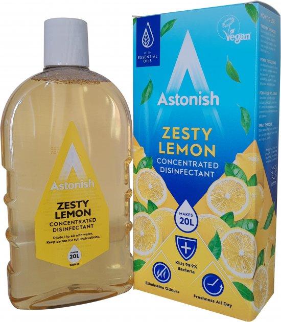 Суперконцентрат для дезинфекции и чистки Astonish Лимонный взрыв 500 мл (5060060212152) - изображение 1