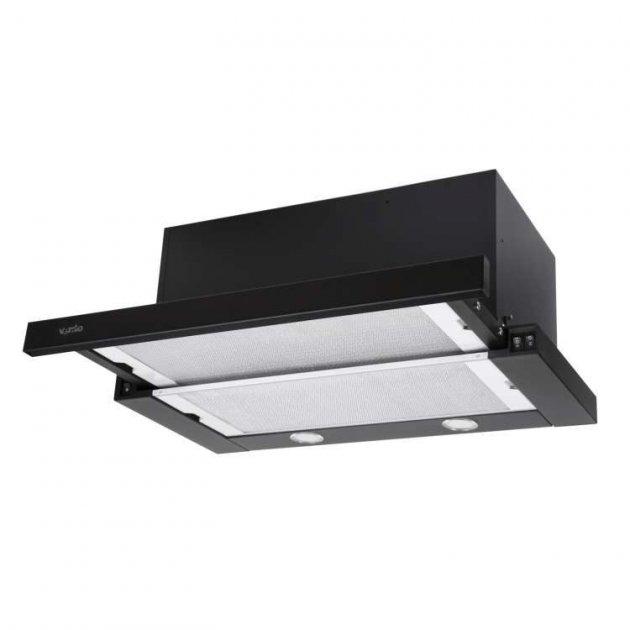 Витяжка кухонна VENTOLUX GARDA 60 BK (1300) SMD LED - зображення 1