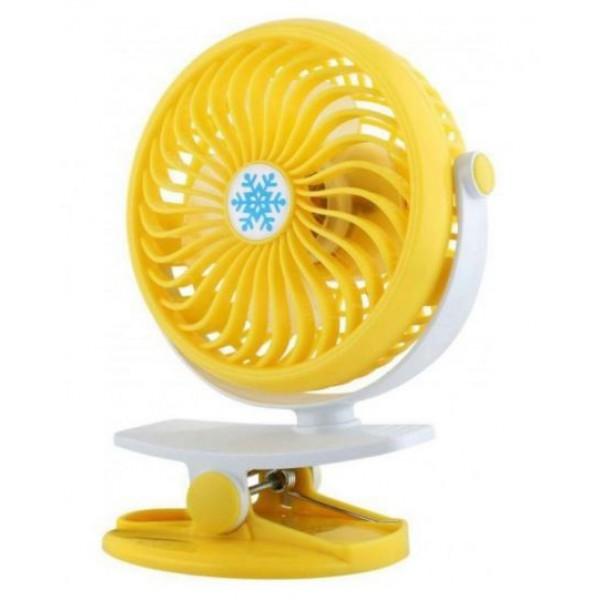 Вентилятор аккумуляторный на прищепке настольный Mini Fan Clip ML-F168 Желтый - изображение 1