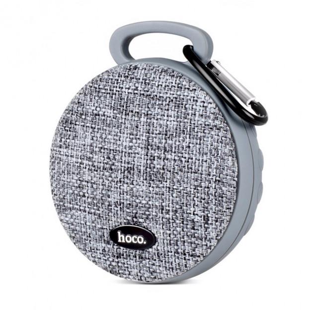 Портативна переносна Bluetooth вологостійка колонка Speaker Hoco Clip BS7. Сіра - зображення 1