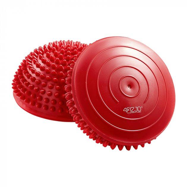 Полусфера массажная балансировочная (массажер для ног, стоп) 4FIZJO Balance Pad 16 см 4FJ0109 Red - изображение 1