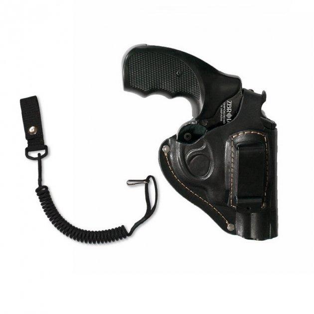 """Кобура поясна Карабін для револьвера 2.5"""" (скоба) (K008) + тренчик - зображення 1"""