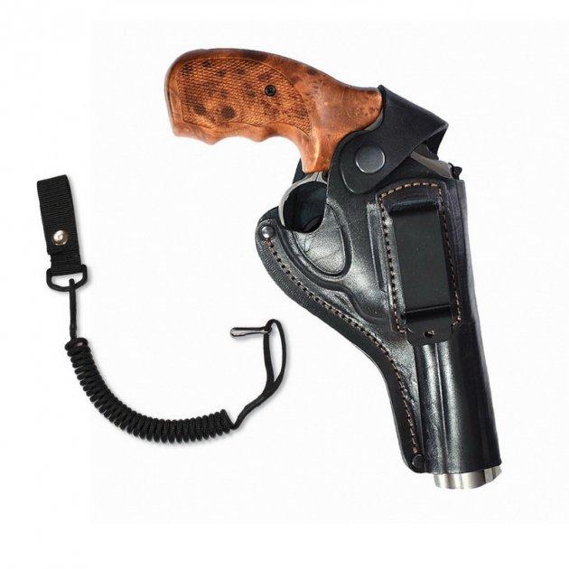"""Кобура поясна Карабін для револьвера 4"""" (скоба) + тренчик - зображення 1"""