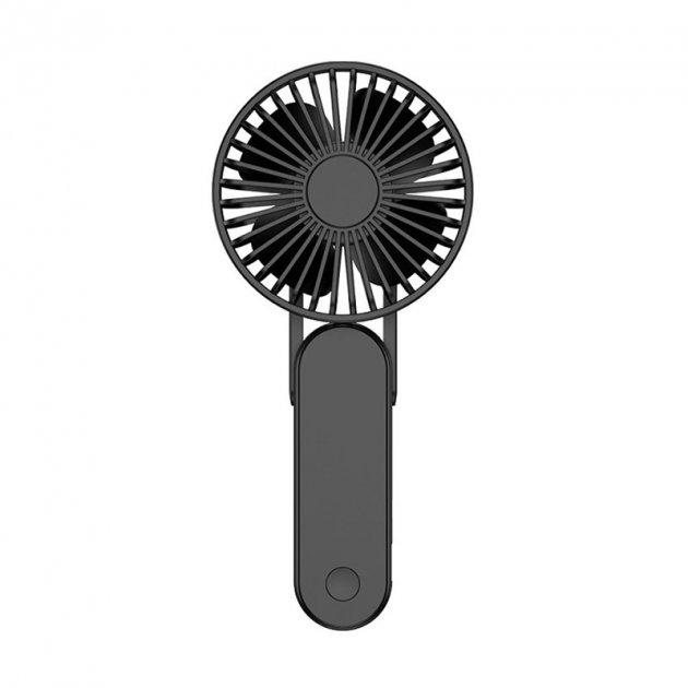 Ручний міні-вентилятор Lesko F1 Black USB бездротовий на акумуляторі - зображення 1