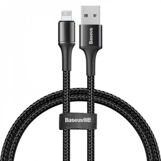 Кабель Baseus Halo Data для Apple iPhone / iPad / iPod Lightning 2.4 A (1 м) Black - изображение 1