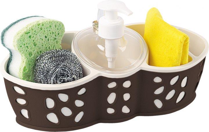 Набір аксесуарів для ванної кімнати PLANET Stone коричневий/кремовий - зображення 1