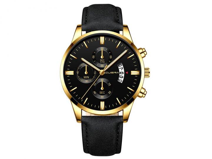 Часы Cuena Кварцевые мужские Type G Золотой (1007-666-06) - изображение 1