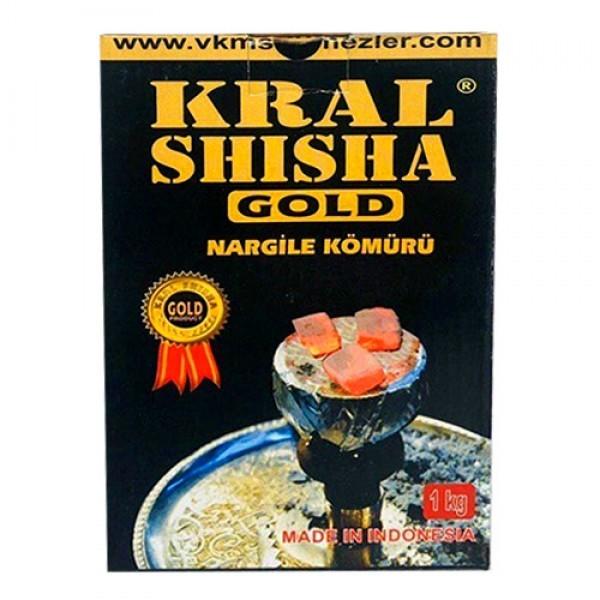 Уголь Kral Shisha Gold 1 кг в индивидуальной упаковке - изображение 1