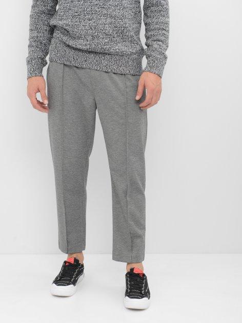 Спортивные штаны Calvin Klein Jeans Logo Tape Slim Melange Jogger J30J315657-P2D0 XXL Mid Grey Heather (8719852960333) - изображение 1