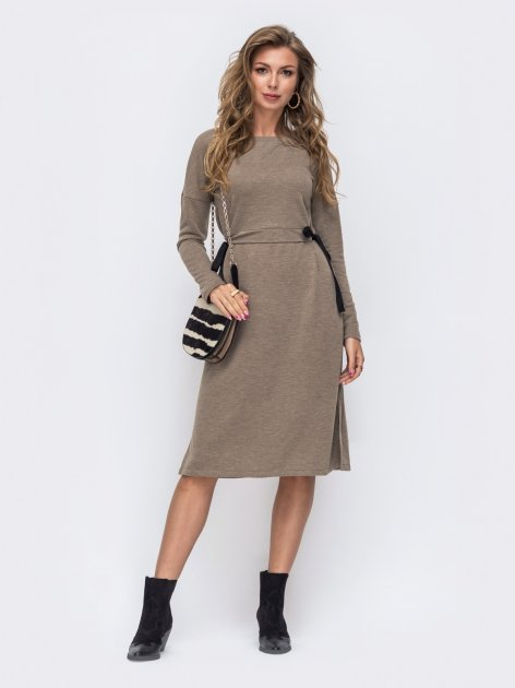 Платье Dressa 50616 42-44 Бежевое (2000405628784_D) - изображение 1