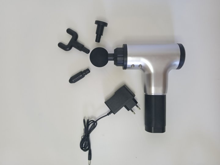 Портативный ручной мышечный массажер для тела Fascial Gun HG-320 - изображение 1