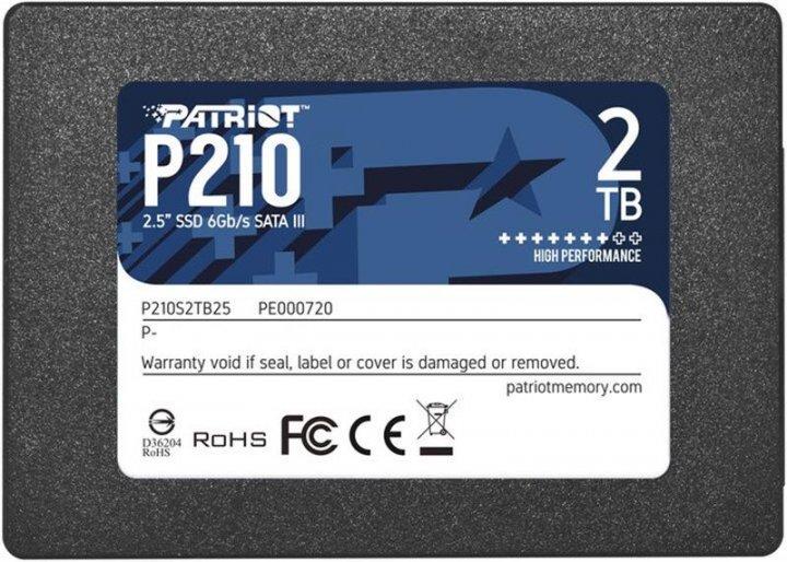 "Patriot P210 2TB 2.5"" SATAIII TLC (P210S2TB25) - изображение 1"