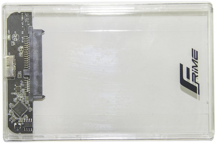 "Зовнішня кишеня Frime для 2.5"" SATA HDD/SSD Plastic USB 3.0 Clear (FHE80.25U30) - зображення 1"