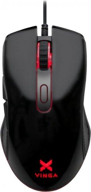 Миша Vinga MSG-110 USB Black - зображення 1
