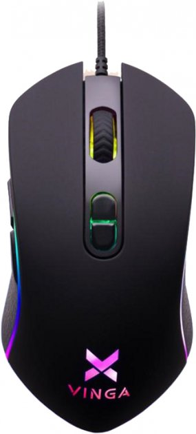 Мышь Vinga MSG-185 USB Black - изображение 1
