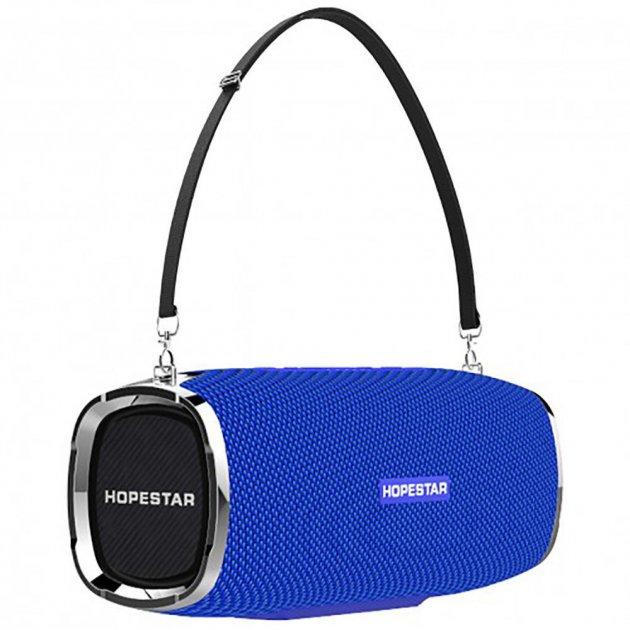 Мощная портативная акустическая 2.1 беспроводная Bluetooth Блютуз колонка с сабвуфером Hopestar A6 Синяя - изображение 1