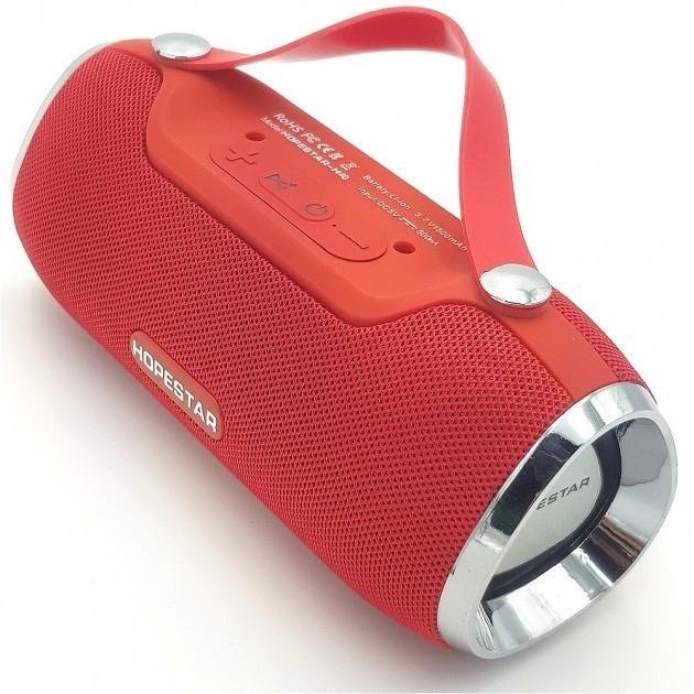 Мощная портативная акустическая стерео колонка (акустическая система) Hopestar H40 Bluetooth USB FM Красная - изображение 1