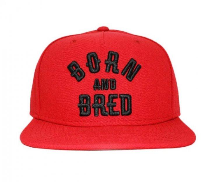 Кепка снепбек Born and Bred с прямым козырьком Красная, Унисекс - изображение 1